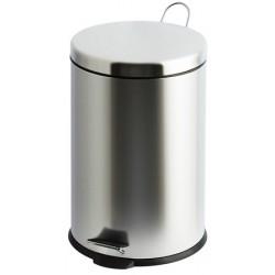 Poubelle à pédale inox brillant 30 litres