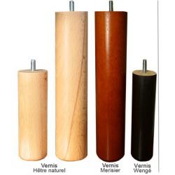 jeu de 4 pieds cylindriques vernis diam 6 x  H25 cm