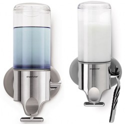 Distributeur de savon mural simple inox 444 ml