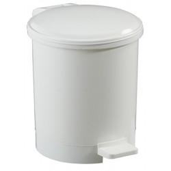 Poubelle à pédale ronde polypropylène blanc 3 L