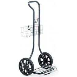 Chariot Compact Plus pour panier à linge demi rond L55,1XP50,8xH110,1 cm