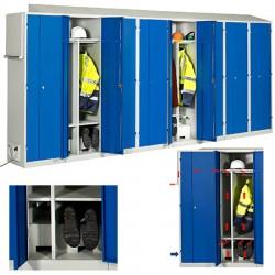 Vestiaire séchant standard industrie salissante 8 cases L487 x P55 x H222 cm