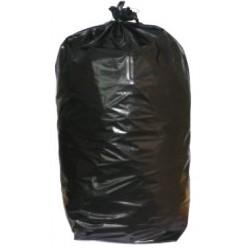 Sacs poubelles renforcés noirs 50L 35 microns (le carton de 200)