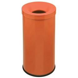 Corbeille antifeu Bastide 50 l orange