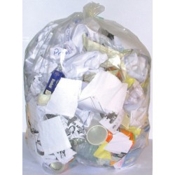 Sacs poubelles 110L translucides HD 18 microns (le carton de 500)
