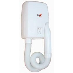Sèche-cheveux mural ABS blanc 1100 W avec prise rasoir