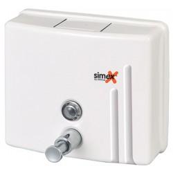 Distributeur de savon horizontal 1200 ml inox blanc
