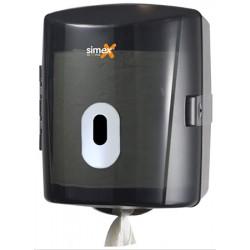 Distributeur papier essuie-mains à dévidage central Elégance ABS fumé