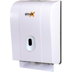 Distributeur d'essuie-mains Elegance 600 feuilles ABS blanc