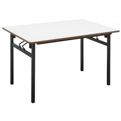 Table pliante 4 pieds Hershel 160x80 cm mélaminé