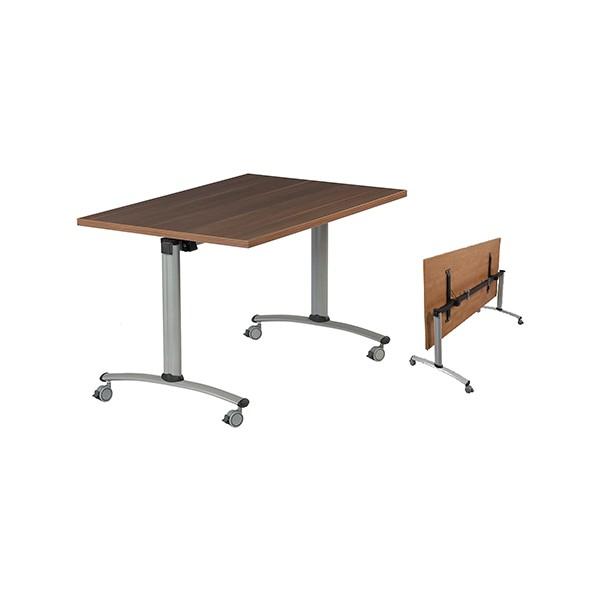 Table rabattable à dégagement latéral Amélie 120x80 cm mélaminé