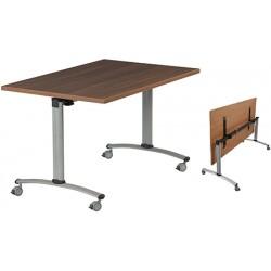 Table rabattable à dégagement latéral Amélie 140x80 cm mélaminé