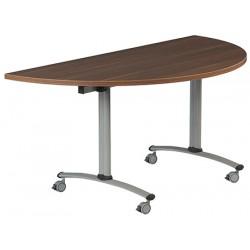 Table rabattable à dégagement latéral Amélie demi lune 160x80 cm mélaminé
