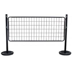 Kit départ 2 poteaux + 1 grille acier noir L160 x H100 cm