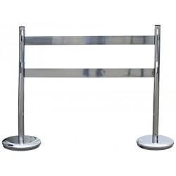 Kit départ 2 poteaux + 2 barrières acier gris L120 x H100 cm