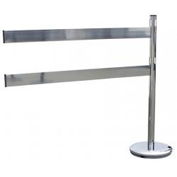 Kit suivant 1 poteaux + 2 barrières acier grisL110 x H100 cm