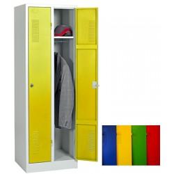 Vestiaire industrie propre 2 cases sur socle L59 x P50 x H180 cm