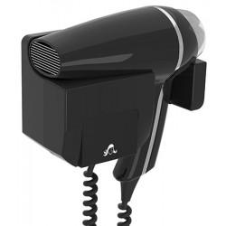 Sèche-cheveux mural JVD Clipper II 1400W noir support frontal