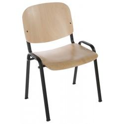 Chaise empilable Emmanuelle assise et dossier bois