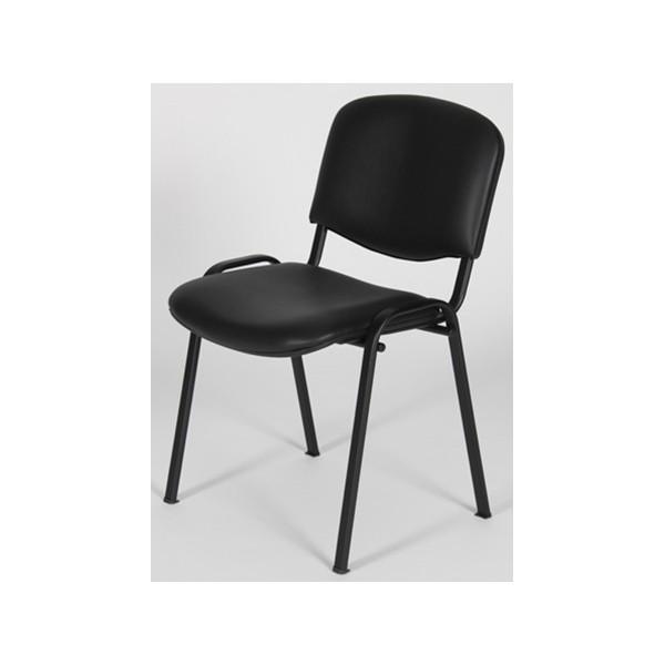 Simili Emmanuelle M4 Cuir Noir Empilable Chaise pUzVSM