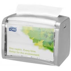 Distributeur grande capacité de serviettes enchevétrées Tork Xpressnap N4 gris clair