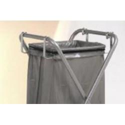 Support supplémentaire pour sac plastique avec arceau de maintien