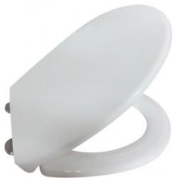 Abattant WC blanc silencieux déclipsable antibacterien