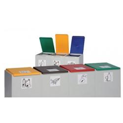 Couvercle anthracite de poubelle tri sélectif 40L (vendu uniquement avec le conteneur)