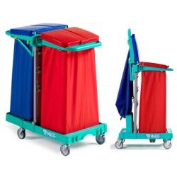 Porte-sacs 2x120 L gain de place Orion L92xP58xH104cm