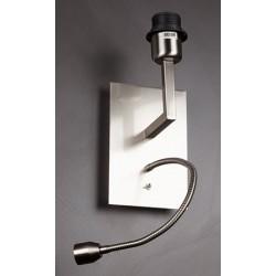 Applique Millénium nickel satiné avec liseuse et interrupteur