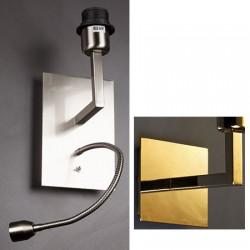 Applique Millénium dorée avec liseuse et interrupteur