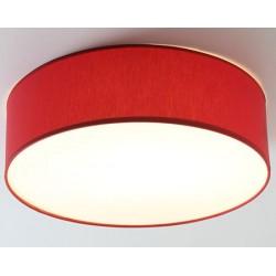 Plafonnier avec abat-jour Byblos chintz rouge diam 50 X H12 cm