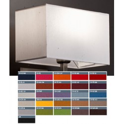 Abat-jour rectangle plat E27 tissu chintz 35x18x21 cm