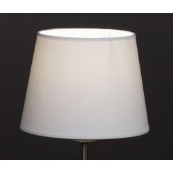 Abat-jour conique E27 tissu lavable silk blanc 45x37x27 cm