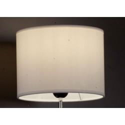 Abat-jour cylindre E27 tissu lavable silk blanc 40x40x21 cm