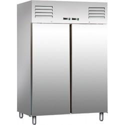 Combi réfrigérateur et congélateur 2 portes inox 2x537 l
