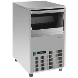 Machine à glaçons pulvérisation et air inox 22 kg
