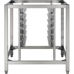 Base inox pour four avec rangement 6 tiroirs L81 x P85 x H95 cm