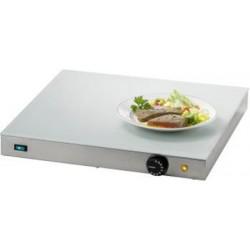 Chauffe-plats électrique inox et plaque verre L55 x P50 x H7 cm