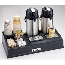 Présentoir à café plastique L65,5 x P33 x H14,5 cm