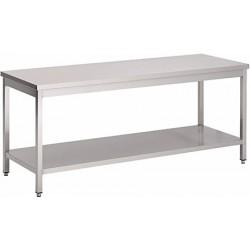Table de travail soudée inox L 100 cm