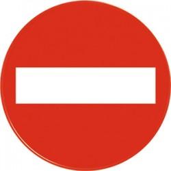 """Panneau de direction """"sens interdit"""" pour cone de sécurité"""