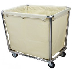 Chariot blanchisserie inox L90 x P65 x H85 cm