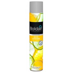 Lot de 6 aerosols desodorisants Boldair surpuissant zeste de citron 500 ml