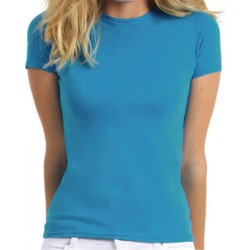 Lot de 100 tee-shirts femme col rond premium couleur 150 g