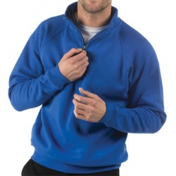 Lot de 24 sweats avec 1/4 zip polycoton 285 g