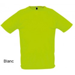 Lot de 50 tee-shirts polyester respirant blanc 140 g