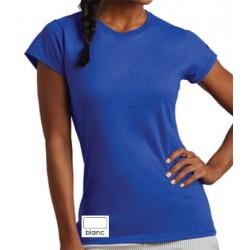 Tee-shirt femme col rond standard blanc 150 g