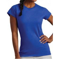 Tee-shirt femme col rond standard couleur 150 g