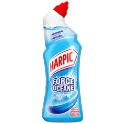 Lot de 12 flacons de 750 ml Harpic gel auto-actif force oceane